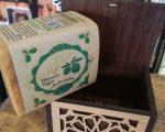 Mydło oliwkowo-laurowe w drewnianym pudełku #1415
